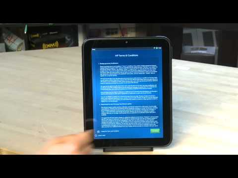 Setting up your HP TouchPad