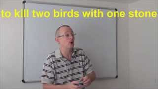 Learn English Daily Easy English Expression 0593 To Kill Two Birds With One Stone