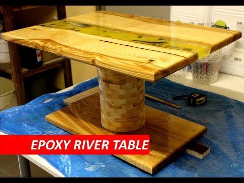 Epoxidharz Couch Tisch selber machen   River Table