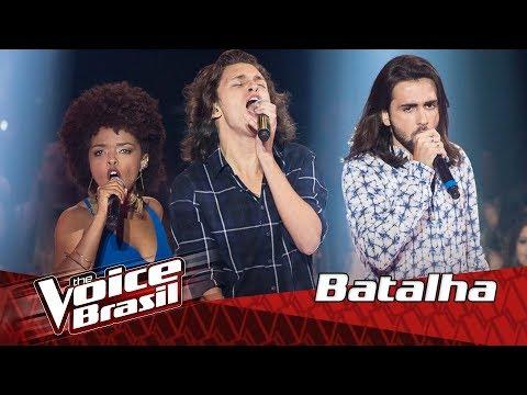 """Gab Ferreira e Irmãos Mayer cantam """"Jack Soul Brasileiro"""" nas 'Batalhas' – The Voice Brasil"""