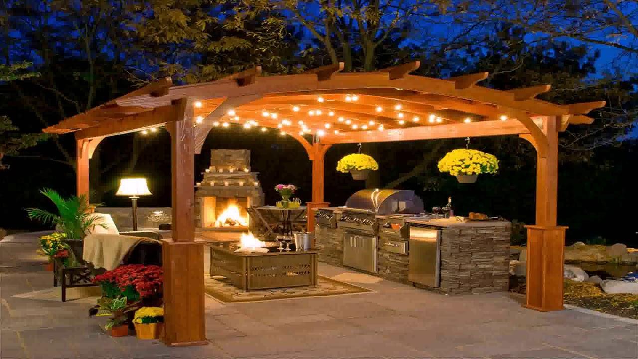 Wooden Outdoor Bar Ideas - YouTube