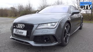 In detail walk-around tour and awesome exhaust sound footage of the all new 2014 audi rs7 sportback with its magnificent 4.0 tfsi (560hp, 700nm) coupled to t...
