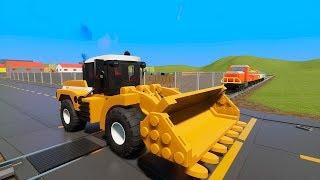 MASSIVE LEGO Cars, Bulldozer, Trucks & SUV's vs. Train - Brick Rigs Gameplay - Lego Toy Destruction