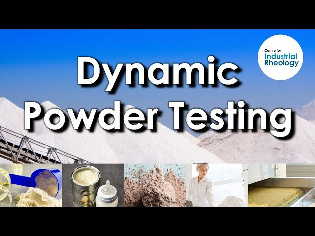 Dynamic Testing of Powders - For measuring flow energy of powders in various states such as aeration