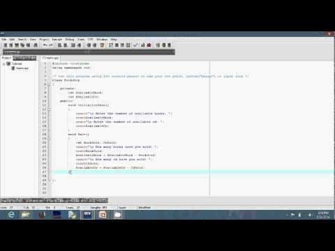 A Simple C++ Program For A Bookshop (Sunday Tunmibi)