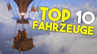 TOP 10 Fahrzeuge in Red Dead Redemption 2! // RDR 2 - Deutsch