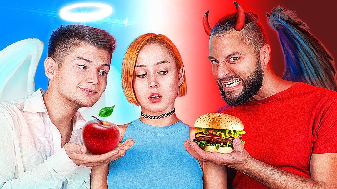 Ангел VS Демон / Моей диетой управляют добрый и злой ангел