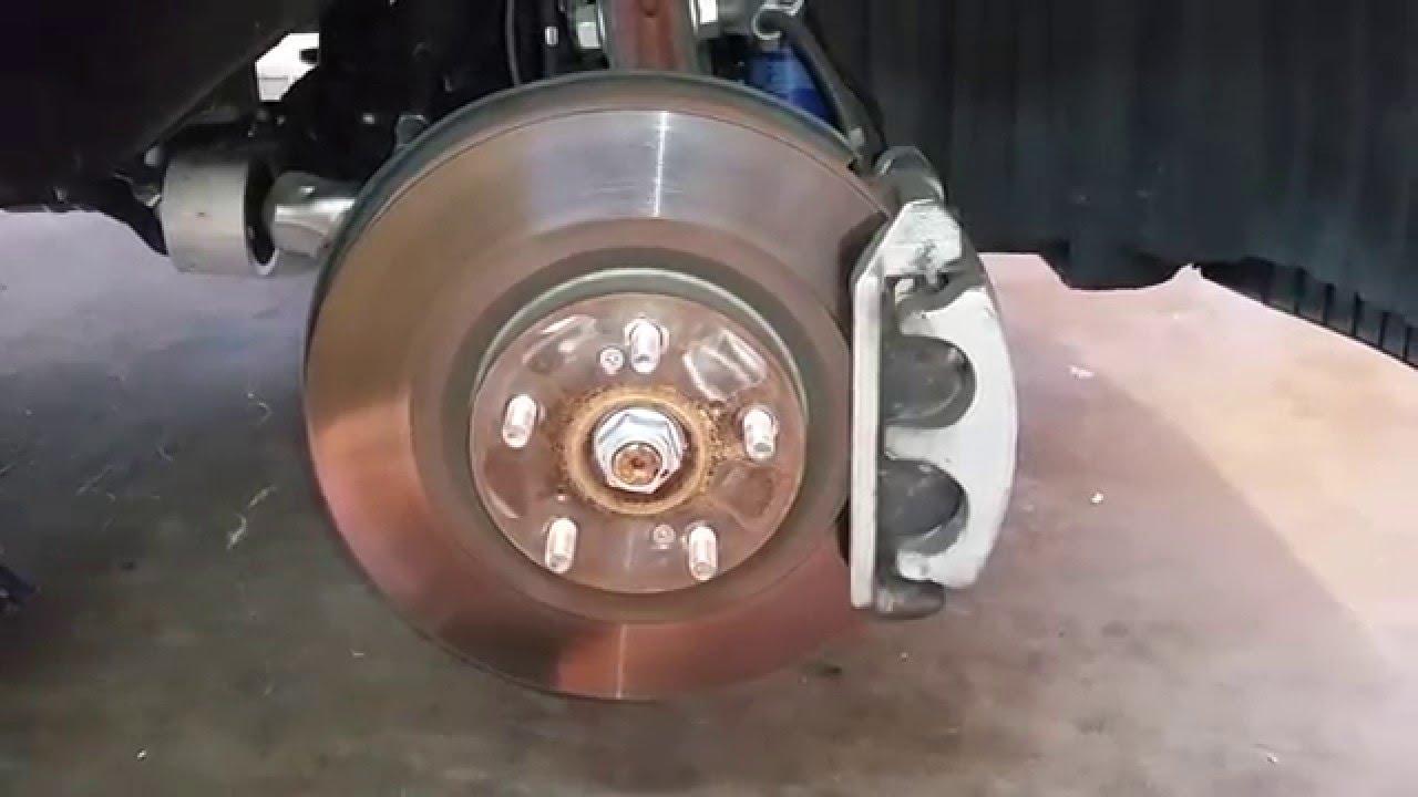 honda pilot suv checking front brakes   miles rotor caliper bracket pads