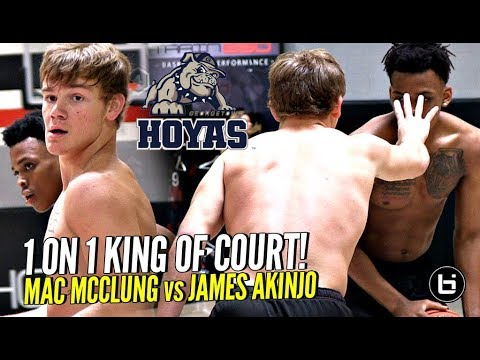 Mac McClung vs James Akinjo 1 on 1 King of Court! Future Teammates PUSHING Each Other To Get Better