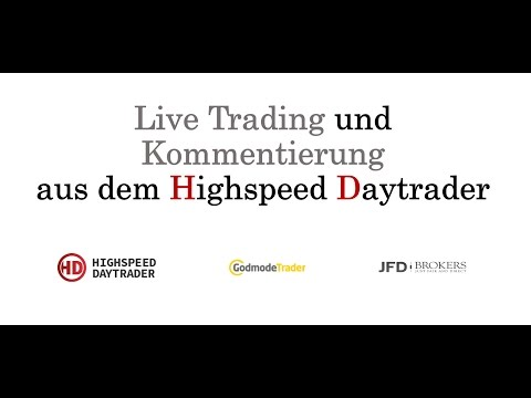 Live Trading im DAX  1min Chart