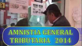 AMNISTÍA GENERAL TRIBUTARIA 2014 - HUALMAY