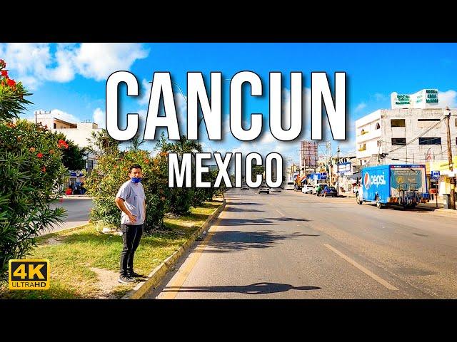 [4K] Cancun, Quintana Roo, Mexico   Driving Downtown