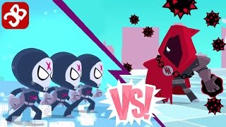 Teeny Titans - Triple Red X VS The Hooded Hood - iOS / Android - Gameplay Video