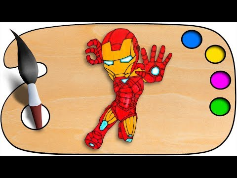 Iron man Drawing & Coloring | Coloring pages for kids | speedpaint with sketch | Coloring book thumbnail