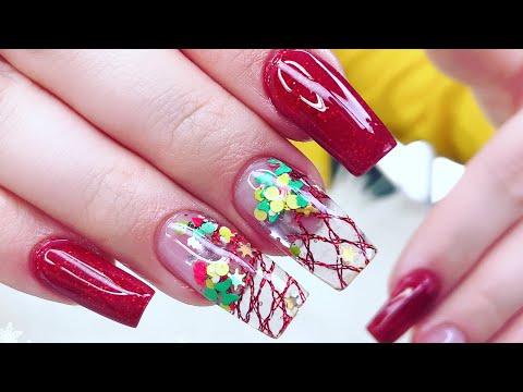 Acrylic Nails tutorial/How to Encapsulated Acrylic Nails Beginners/Como encapsular uñas Acrilicas