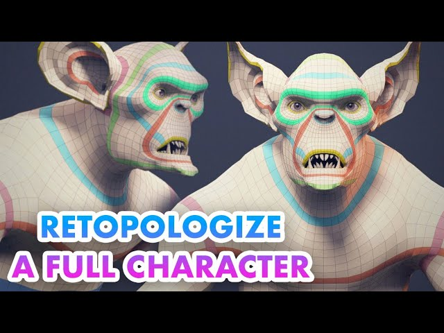 How To Retopo a Full Character Timelapse