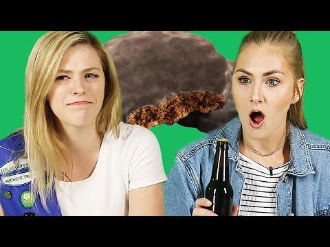 Ex-Girl Scouts Try Thin Mint Cookie Beer