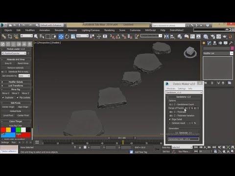 Download DebrisMaker 2.0 for 3dsMax |  Procedural geometry creation tool for 3dsMax