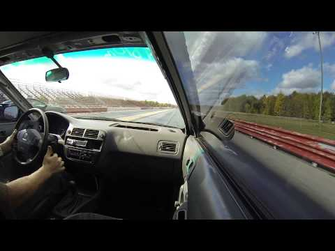Turbo h22a Civic vs Trans am ws6 1/4 mile