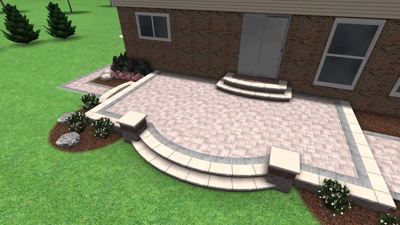 paver stone patio design rochester hill mi - Stone Patio Designs