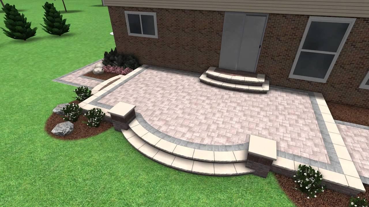 Paver Stone Patio Design Rochester Hill MI - YouTube