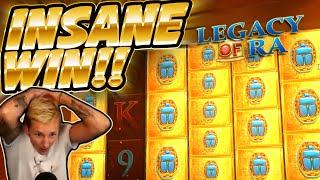 HUGE WIN!!!! Legacy Of Ra BIG WIN - INSANE WIN on Casino Game