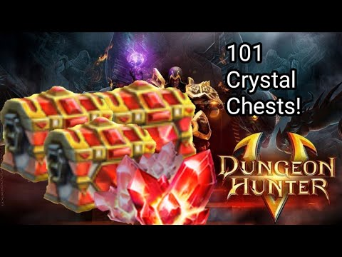 Dungeon Hunter 5 | Opening 101 Crystal Chests [LEGENDARY LOOT][DH5]