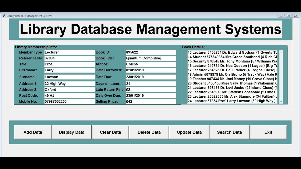 How to Create Library Database Management Systems with SQLite in Python -  Full Tutorial