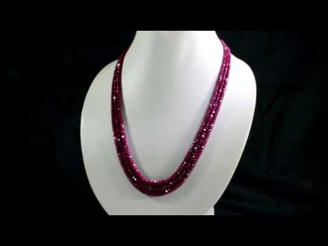 """CT NATURAL EMERALD BEADED NECKLACE 3 LINES DESIGNER NECKLACE~20/"""" EXCLUSIVE 505"""