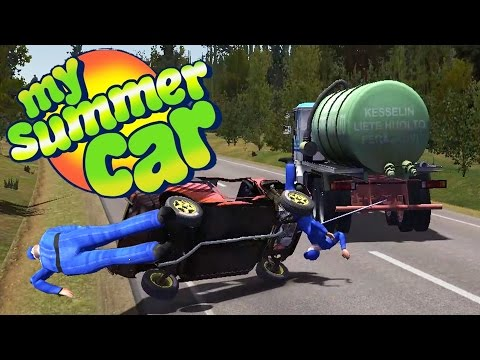 POLICE CHASE GOES HORRIBLY WRONG, Destroying the Car - My Summer Car Gameplay Highlights Ep 26