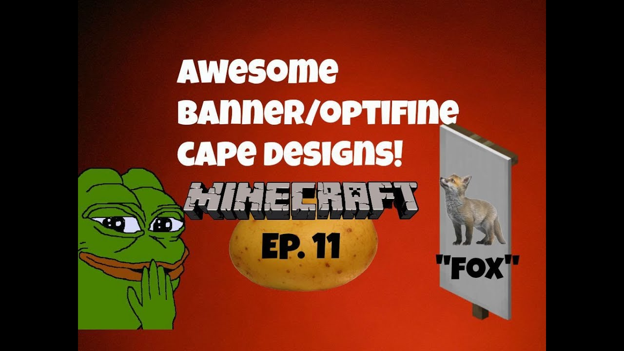 Awesome banner/optifine cape designs Ep  10 `Chocolate Chip Cookie`