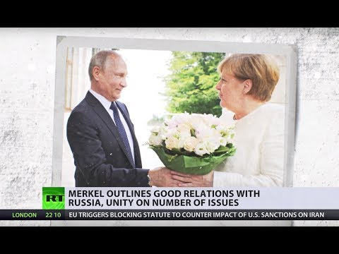 Angela Merkel meets Vladimir Putin in Russia's Sochi
