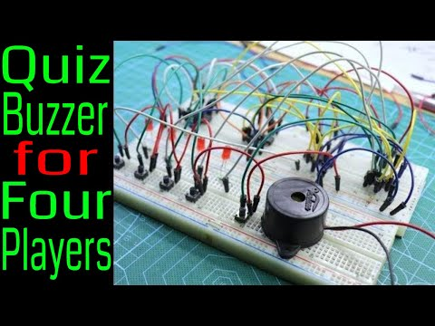 Make A Four Player Quiz Buzzer Circuit Without Microcontroller