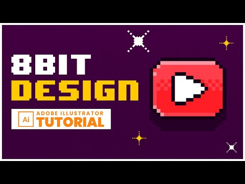 8 bit Text Effect Design - Adobe Illustrator Tutorial thumbnail