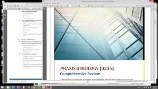 Biology Praxis II Review