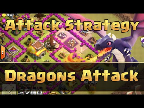 Clash of Clans - TH8 Dragons Clan Wars Attack Strategy