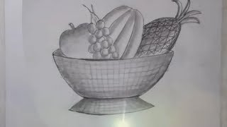 Drawing of a Fruit Bowl