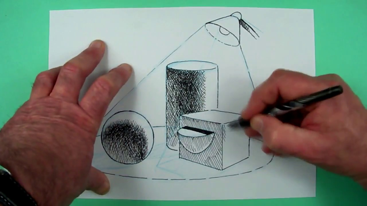 Wie zeichnet man Licht und Schatten ? Zeichnen für Kinder
