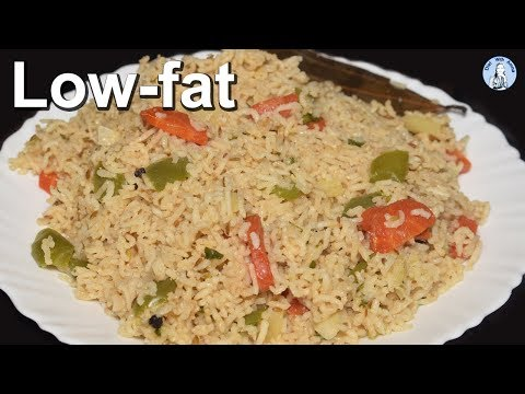 Low fat Vegetable Pulao Recipe | Brown Rice Recipe for weight loss | Diet With Amna