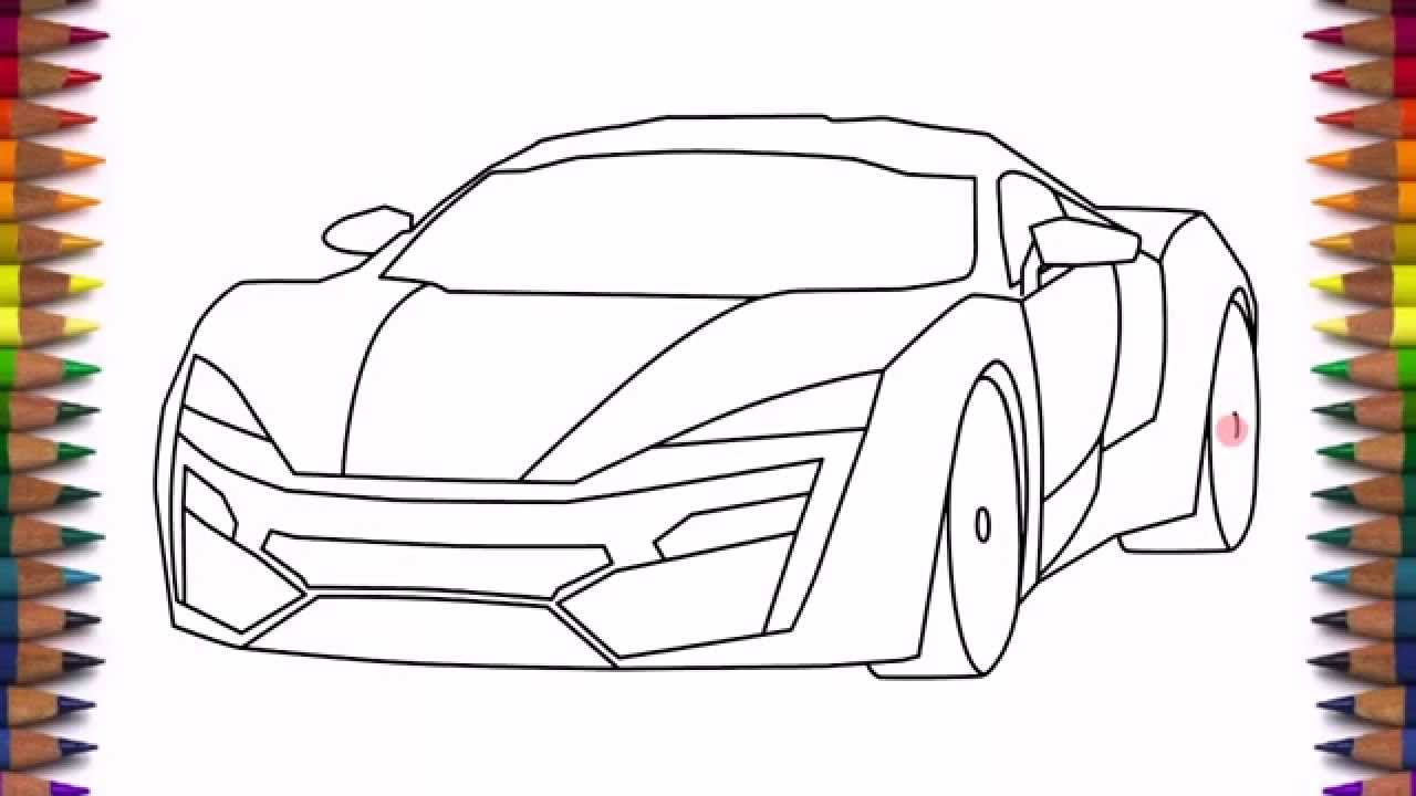 How To Draw A Car Lykan Hypersport Easy Step By Step
