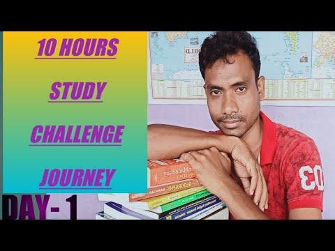 10 hours study challenge journey.#Day-1/#WBCS preparation.