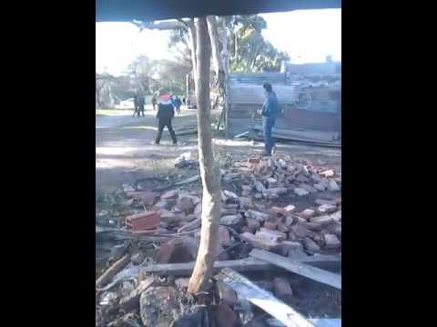 Barrio López de Gomara: desalojan un asentamiento