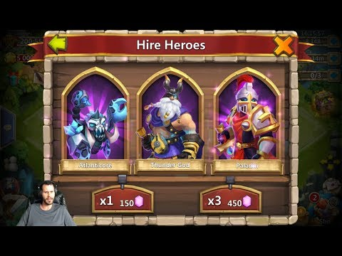 Free 2 Play 30k Gems For Heroes 200k Might BEAST Castle Clash