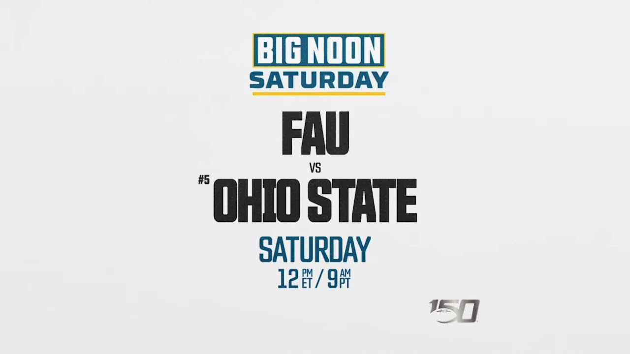How to Watch FAU vs Ohio State, NCAA Football Live Stream, Schedule, TV Channel, Start Time