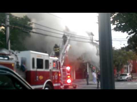 Crazy fire in Bristol ri