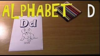 alphabet d dog/алфавит д