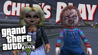 GTA 5 Mods  CHILDS PLAY MOD w/ CHUCKY DOLL & TIFFANY DOLL (GTA 5 PC Mods Gameplay)