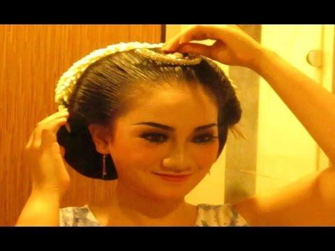 Tutorial Tips Cara Sanggul Jawa Tanpa Sasak Rambut Javanese Hair