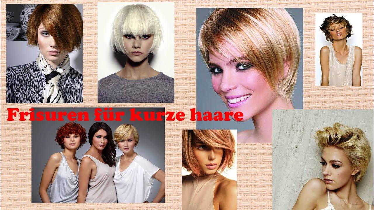 Frisuren für kurze haare - YouTube