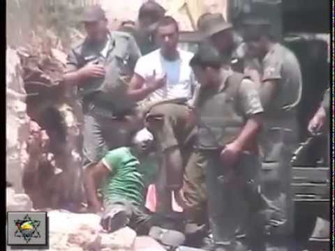 Israeli soldiers violence against young palestinian